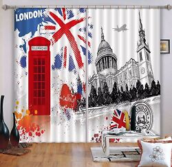 3d City Flag 7 Blockout Photo Curtain Printing Curtains Drapes Fabric Window Us