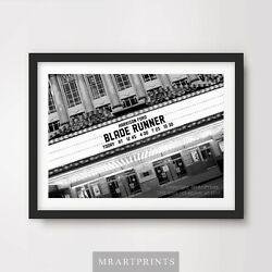 Blade Runner Art Print Poster Cinema Sign Marquee Movie Film Wall Harrison Ford