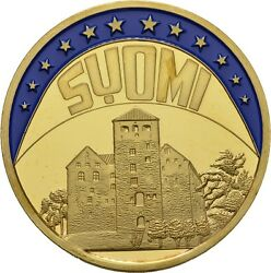 Europe Ecu Series Finland Suomi Gilded Proof Like Gilt Medal 1998 Me236