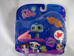 Bnib Littlest Pet Shop Pinguin With Jet Ski And Goggles 821