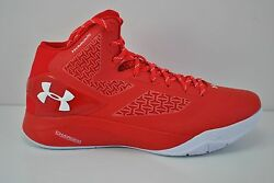 Under Armour UA Clutchfit Drive 2 Basketball Shoes Sz 12.5 Red White 1258143 603