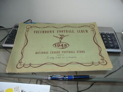 1948 Bowman Football Cards Empty Collectors Album With Numbered Spots Issued