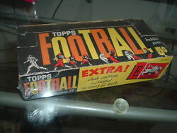 1961 Topps Football Five Cent Trading Cards Display Box Advertising Emblem