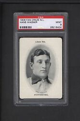 1906 WG3 Fan Craze Honus Wagner PSA MINT 9 1 of 5 Just 1 Higher Pittsburgh
