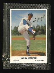 1962 Bell Brand Unopened Sealed Cello Pack 32 Sandy Koufax Dodgers