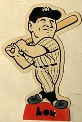 1975 Laughlin Stand-up Lou Gehrig New York Yankees Signed By Bob Laughlin