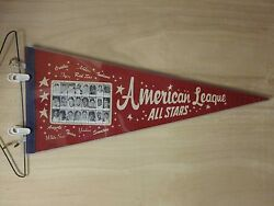 1965 All Star Pennant Mickey Mantle Brooks Robinson Rookie Picture Rare