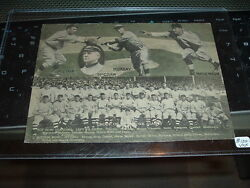 1912 New York Giants Natl League Champs Large Post Card With Christy Mathewson