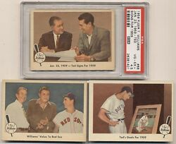 1959 Ted Williams Company Complete Full Set Of 80 With Psa Vg-ex+ 4.5 68 Signs