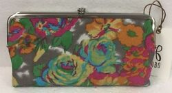 Hobo International Genuine Leather Lauren Lush Tropics Clutch Wallet Coin Purse