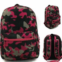 School Backpack 17quot; Tablet Laptop Girls Fashion Army Style W Tags $16.00