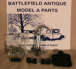 1928 And 1929 Model A Ford Ratrod Streetrod Stainless Steel Hood Latch Kit.