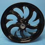 SOLID BLACK 360 SHARK TOOTH WHEELS HUBS & SPROCKET FOR 2000-2005 KAWASAKI ZX12R