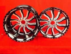 BLACK CONTRAST 360 INFERNO WHEELS HUBS & SPROCKET FOR 2005 KAWASAKI ZX10