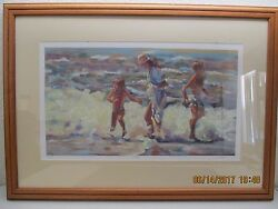 Lucelle Raad Family Seriolithograph On Wove - Paper Beach Wave Scene