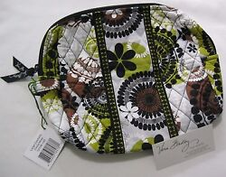 Vera Bradley COCOA MOSS Large COSMETIC Case MAKEUP Pouch TRAVEL Bag For TOTE NWT