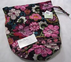 Vera Bradley MOD FLORAL PINK Ditty BAG Gym SHOE Diaper BABY Beach TOTE Book NWT