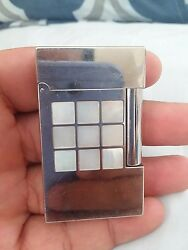 S.t.dupont 2002 Inspiration Nature Mother Of Pearl Line 2 Lighter - Used
