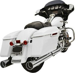 Bassani 4 Dnt Straight Can Mufflers Harley Electra Glide Road King Street 17-19