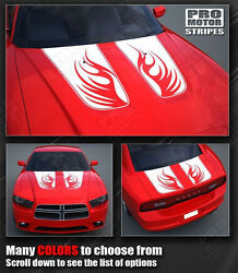 Dodge Charger Fire Wings Hood And Trunk Stripes Decals 2011 2012 2013 2014