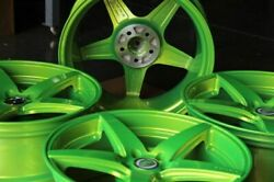 4 20x8.5/10 5x114.3 Bavaria Bc5 Green Wheels Mustang Is250 Gs300 Gs350 Rsx Tsx
