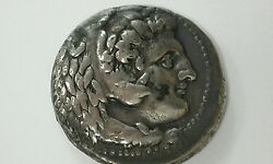 Ancient Greek Silver Tetradrachm Of Alexander The Great 336-323 Bc