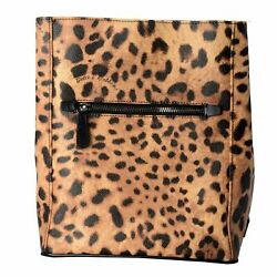 Dolce And Gabbana 100 Leather Multi-color Leopard Printed Womenand039s Backpack Bag