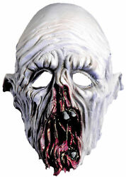 Ghost Soft White Natural Latex Mask With Rotting Nose And Mouth Distortions
