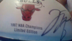 Chicago Bull 1997 Champship Limited Edition Basket Ball Authenticity By Psa