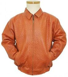Men's Los Altos Genuine Full Quill Ostrich Casual Jacket Western Bomber Jacket