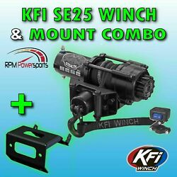 2500 Lb Kfi Stealth Winch, Mount And Grill Combo- Polaris Sportsman Ace 2014-2019