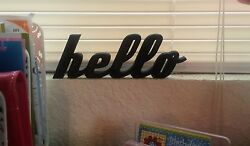 Hello Sign Shelf Sitter Office Desktop Dorm Decor Wall Hanging Decor Word Art