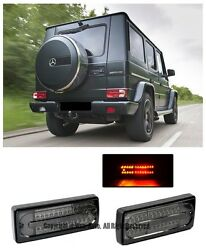 For 02-up Benz W463 G Class Rear Led Smoke Lens Conversion Tail Light Lamps Kit