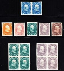 Us 63tc5 1c Franklin Trial Color Plate Proof Collection On Starch Paper