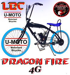Complete Diy 2-stroke 66cc/80cc Motorized Bike Kit With 26 Gas Tank Bicycle