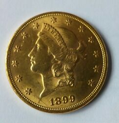 United States 1899-p Choice Condition Gold 20 Double Eagle