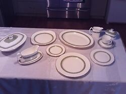 English Fine Bone China Rondelay Pattern Copyrighted By Doulton And Co. Ltd