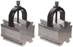 Brown And Sharpe 599-750-5 V Block And Clamp Pair Set, Hardened Steel