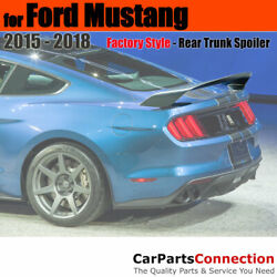 Painted Abs Trunk Spoiler For 15-18 Ford Mustang Coupe Ua Pitch Black