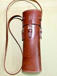 Wwi And Wwii Leather Sniper Scope Case - Brown Custom-made