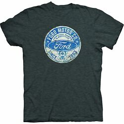 Ford T-Shirt - Gray w V8 Ford Motor Company Since 1903 Emblem (Distressed) $16.99