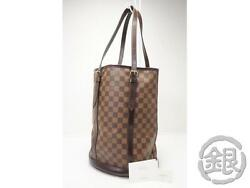 AUTH PRE-OWNED LOUIS VUITTON SPECIAL ORDERED DAMIER BUCKET GM BAG M42236 171911