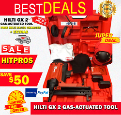 Hilti Gx 2 Gas-actuated Tool New Free Hilti Radio Charger Extras Fast Ship