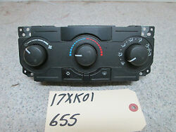 05-07 JEEP GRAND CHEROKEE COMMANDER MANUAL HEATER CONTROL UNIT WITH AC #55111009
