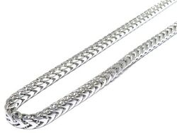 Mens Solid 14k White Gold Franco  Box Link Quality Chain 247.7Grams 6.06mm