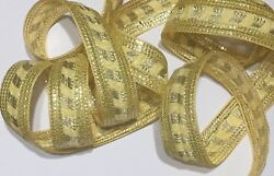 JASDEE Vintage Border Trim Ribbon 1 1 4quot; Inch Embrioderyamp;Sequin work Style A1217
