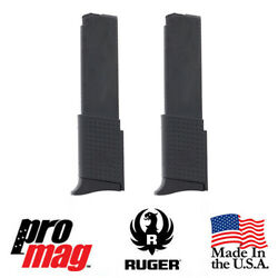 2x Promag Extended 10rd .380 Acp Steel Clip Mag Rug14 For Ruger Lcp And Lcp Ii