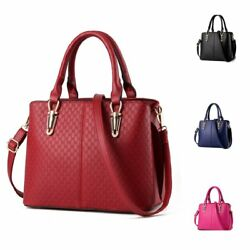 Womens Top Handle Satchel PU Lether Handbags Tote Designer Purses Shoulder Bag