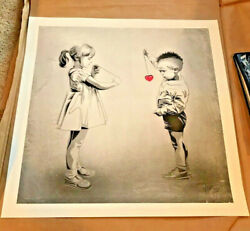 Rourke Van Dal 'don't Break My Heart' Limited Edition Signed/numbered Not Banksy