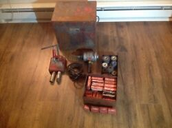 K.o. Lee Knock Out Valve Seat Grinder Portable. Lots Of New Wheels